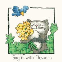 HC911 - Say It With Flowers by Peter Underhill - Cats-Rule!